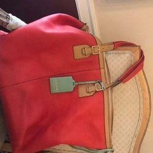 Pebbled leather Coach Travel Bag